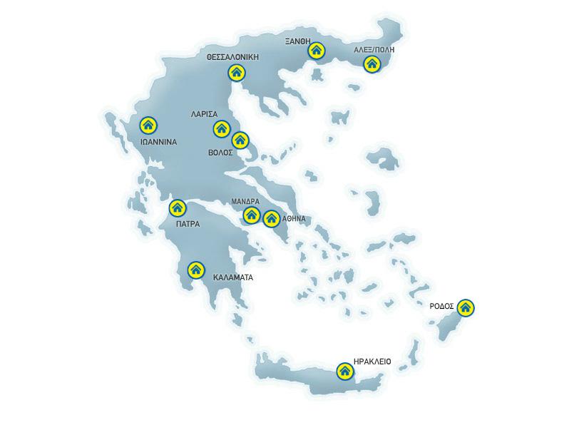 Praktiker stores map