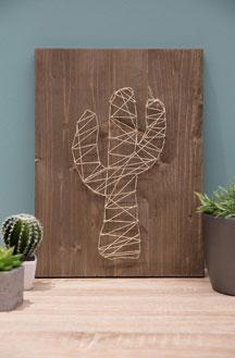 We Love DIY: Διακοσμητικό κάδρο με γραμμικά σχέδια από σχοινί!