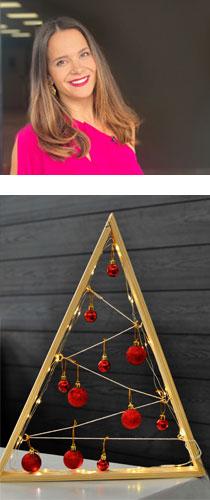 >DIY Ξύλινο Χριστουγεννιάτικο δεντράκι