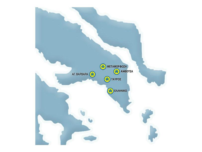 Praktiker stores map Attiki