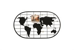 ΜΕΤΑΛΛΙΚΟ ΠΛΑΙΣΙΟ ΠΑΓΚΟΣΜΙΟΣ ΧΑΡΤΗΣ ΓΙΑ 6 ΦΩΤΟΓΡΑΦΙΕΣ 60Χ35CM