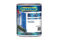 ΒΕΡΝΙΚΟΧΡΩΜΑ PRAKTIKER MEGACHROM ΜΑΥΡΟ 0,75LT