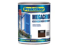 ΒΕΡΝΙΚΟΧΡΩΜΑ PRAKTIKER MEGACHROM ΚΑΦΕ 0,75LT