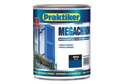 ΒΕΡΝΙΚΟΧΡΩΜΑ PRAKTIKER MEGACHROM ΜΠΛΕ 0,75LT