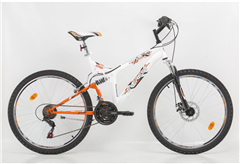 "BICYCLE EVEREST MOUNTAIN WONDER 26"" WHITE/MANGO"