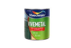 ΒΕΡΝΙΚΟΧΡΩΜΑ VIVECHROM VIVEMETAL SATIN ΛΕΥΚΟ 2,5LT
