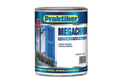 ΒΕΡΝΙΚΟΧΡΩΜΑ PRAKTIKER MEGACHROM ΛΕΥΚΟ 2,5LT