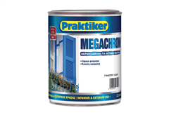 ΒΕΡΝΙΚΟΧΡΩΜΑ PRAKTIKER MEGACHROM ΜΑΥΡΟ 2,5LT