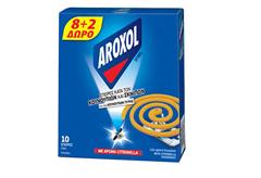 ΕΝΤΟΜΟΑΠΩΘΗΤΙΚΕΣ ΣΠΕΙΡΕΣ AROXOL SPIRAL ΜΕ CITRONELLA 8+2 ΔΩΡΟ