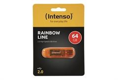 USB STICK 2.0 INTENSO RAINBOW 64GB