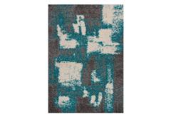 ΧΑΛΙ SHAGGY 2PLY 160X230CM (1608-GREY/TURKUAZ)