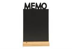 """ΜΑΥΡΟΠΙΝΑΚΑΣ """"MEMO"""" ΜΕ ΞΥΛΙΝΗ ΒΑΣΗ 34,5X21CM"""